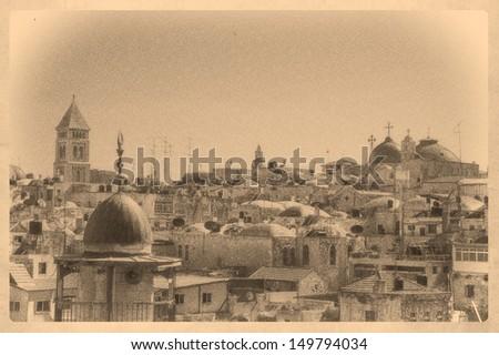view on jerusalem old city ...