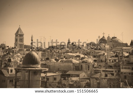 view on jerusalem old city ...