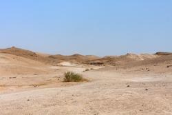 View on Judean desert landscape not far from Metzoke Dragot village.