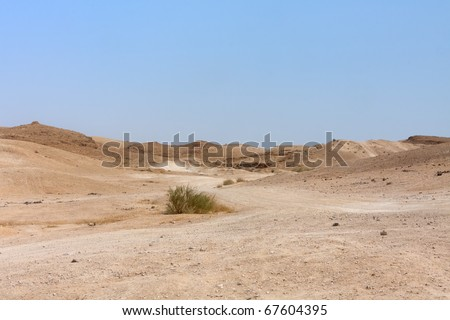 View on Judean desert landscape not far from Metzoke Dragot village. #67604395