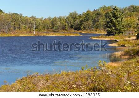 View on lake