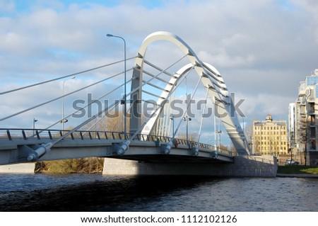 View on Lazarevsky bridge in Saint-Petersburg, Russia #1112102126