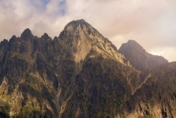 View on Lomnicky Stit in high Tatra Mountains