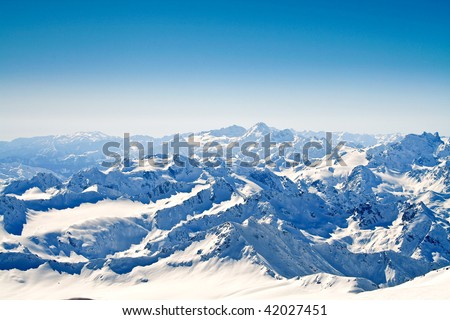 View on main mountain ridge caucasus.