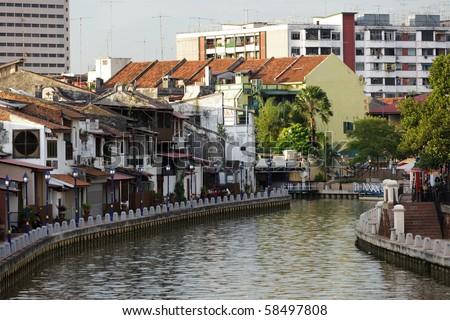 view on malacca port in Malaysia