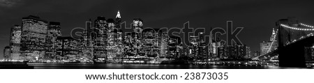 View on Manhattan in black and white