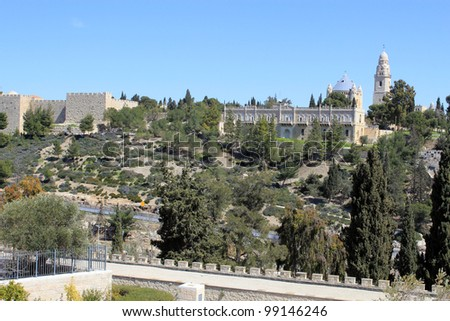 View on Mount Zion in Jerusalem, Israel - stock photo