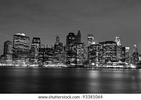 View on New York City at Night #93381064