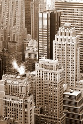 View on New York city buildings