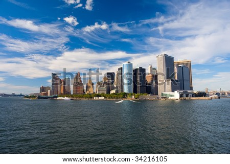 View on New York from Hudson River