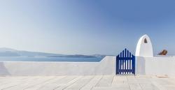 View on Oia in Santorini Greece