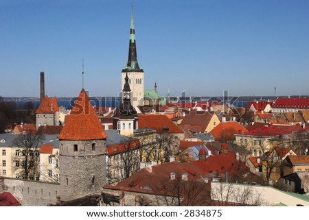 View on old city of Tallinn,Estonia