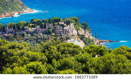 View on old part of town Cassis, Provence, South France, Europe, Mediterranean sea Photo stock ©