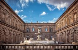 View on Palazzo Pitti from the Boboli Gardens