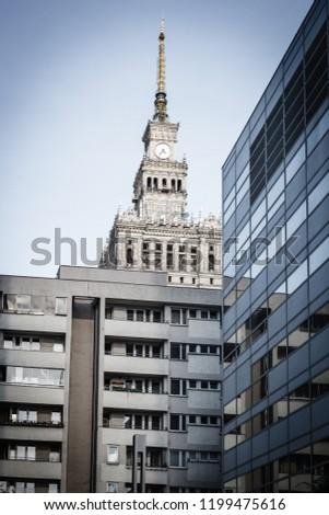 View on PKiN building from Jana Pawla street, Warszawa #1199475616