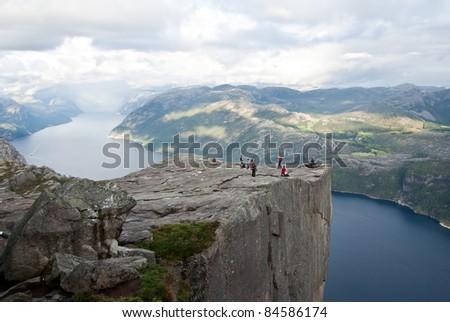 view on preikestolen in Norway
