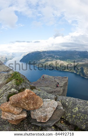 View on preikestulen pulpit rock