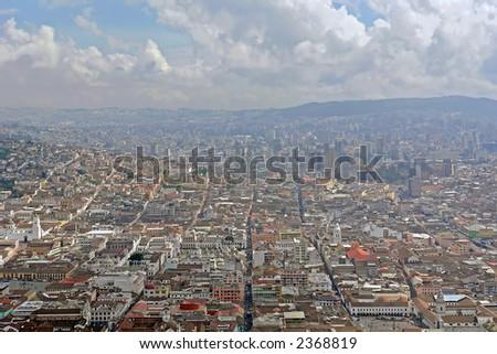 view on quito city. ecuador. south america - stock photo