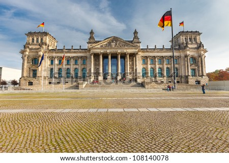 View on Reichstag in Berlin