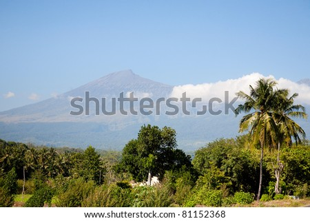 View on Rinjani volcano in Lombok, Indonesia