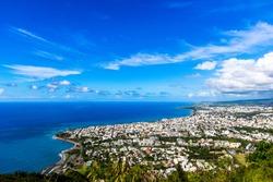 View on Saint Denis (reunion island)
