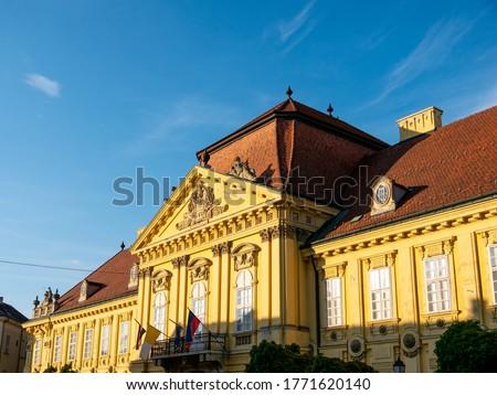 View on the Bishops Palace, Puspoki Palota in Szekesfehervar, Hungary. Stock fotó ©