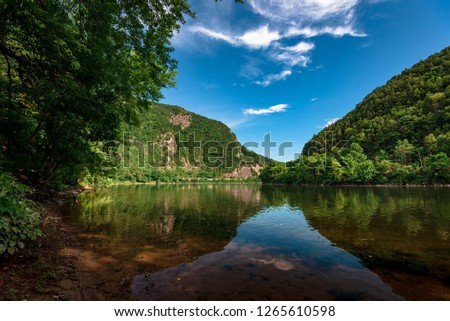 View on the Delaware Water Gap and Delaware River #1265610598