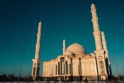 View on the Hazrat Sultan Mosque in Astana Kazakhstan