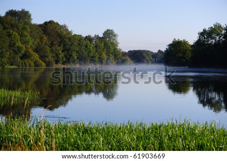 View on the river Erne early in the morning