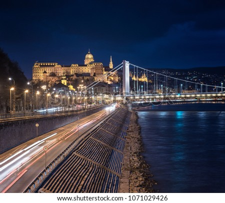 View on the riverbank of Danube in Budapest #1071029426