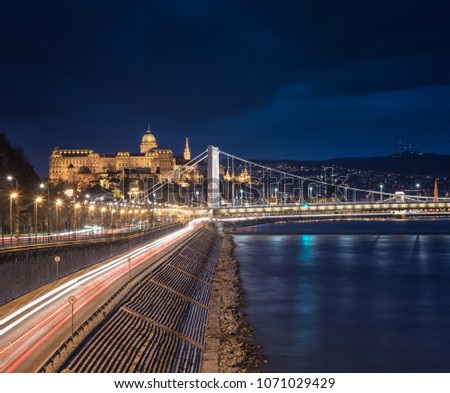 View on the riverbank of Danube in Budapest #1071029429