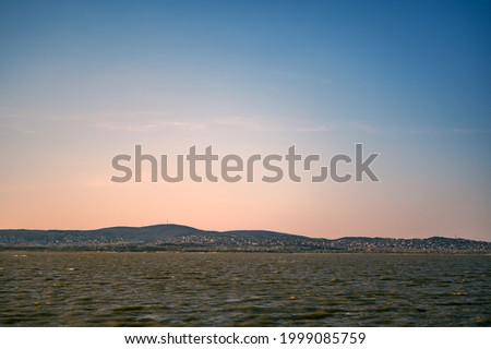 View on the Velence lake during the sunset in Hungary, Europe. Stock fotó ©