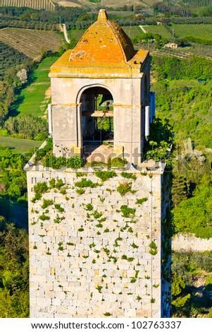 View on Tuscan City of San Gimignano, Tuscany, Italy