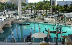 View outside the Venetian Hotel in Las Vegas