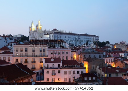 View over Alfama - the oldest district of Lisbon, Portugal
