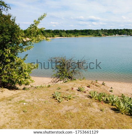 View over beautiful lake in Southern Germany