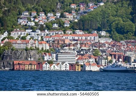 View over Bergen in Norway