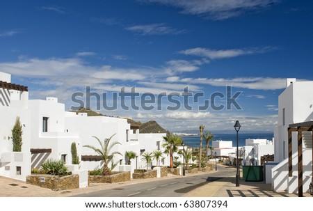 View over Macanes  towards  Mojacar, Almeria, Andalusia, Spain