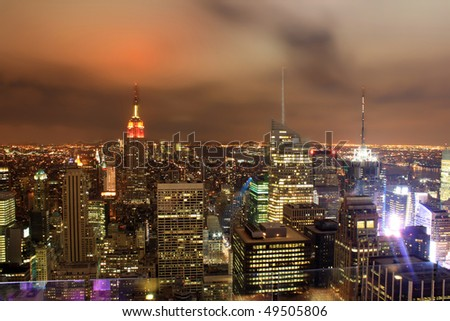 view over New York skyline