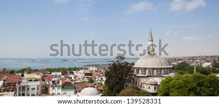 View over Sultanahmet,Istanbul. Photo stock ©