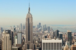 View over the amazing skyscrapers of Manhattan, New York City during daytime