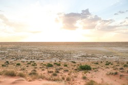 view over the australian outback nothingness