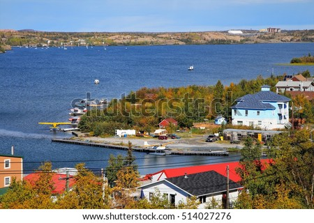 view over the back bay of Yellowknife/ Autumn in Yellowknife/ Northwest Territories