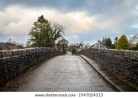View over the Bridge of Dee, a stone bridge near Castle Douglas, Dumfries and Galloway, Scotland Сток-фото ©