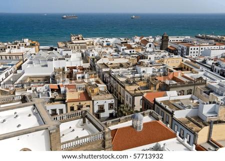 View over the city las palmas de gran canaria the - Capital de las palmas ...
