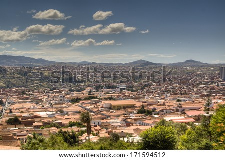 View over the city of Sucre, Bolivia