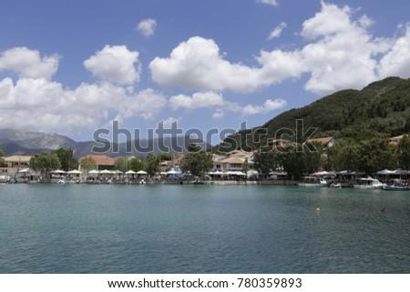 View over the harbour of Vasiliki, Lefkada, Greece #780359893
