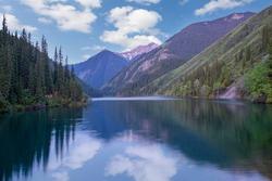 View over the Kolsai Lake in Kazakhstan