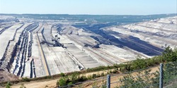 view over the largest german open pit lignite mine hambach