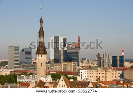 View over the Old Town of Tallinn, which is a UNESCO World Cultural Heritage site